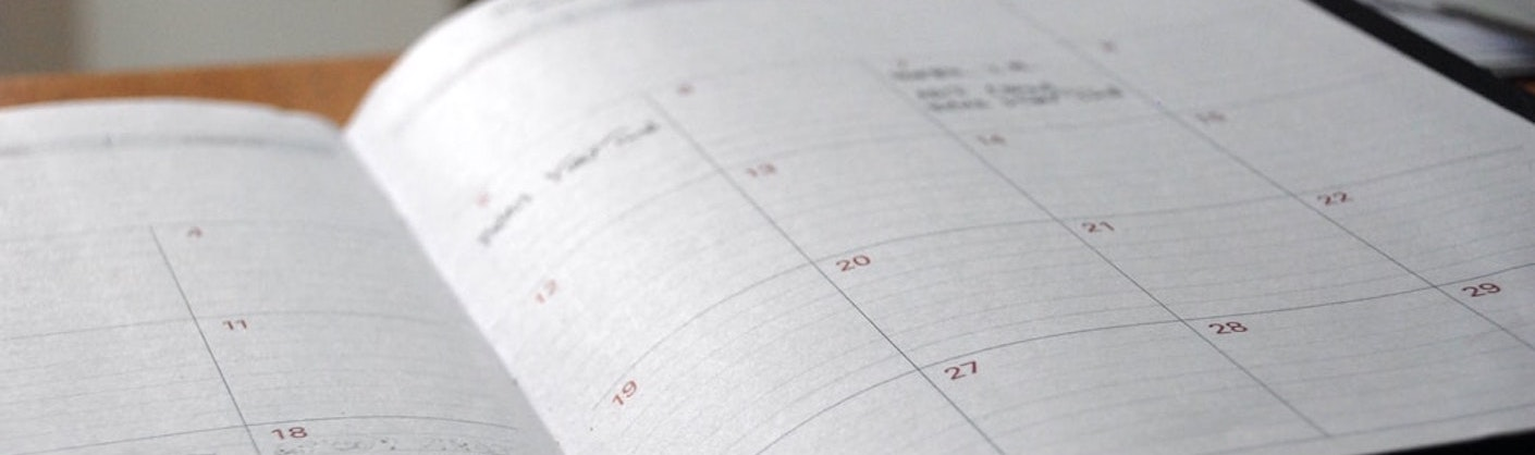 photo d'un agenda